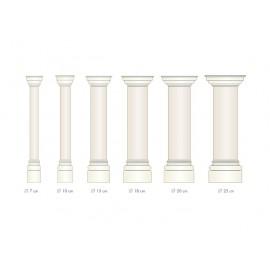 Demi colonne fût lisse - Ref:COL909