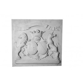 Bas relief armoiries de chateau
