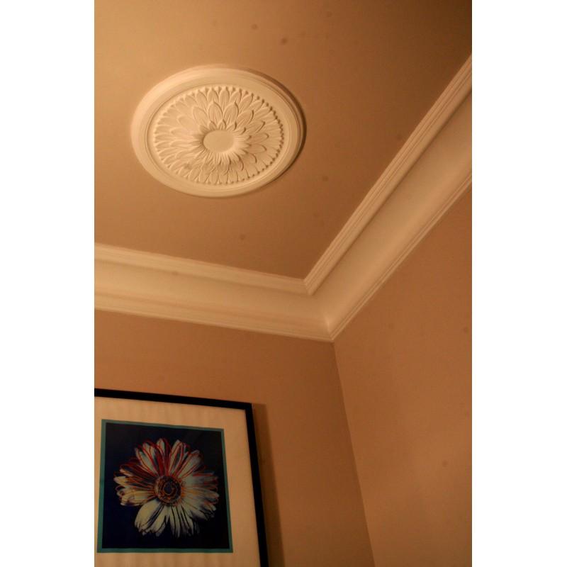 Rosace r603 diam 43 cm gypsum art for Rosace plafond platre