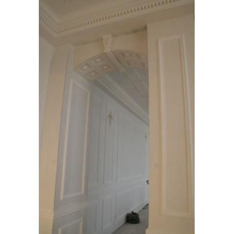 fausse moulure murale palissade bois design. Black Bedroom Furniture Sets. Home Design Ideas