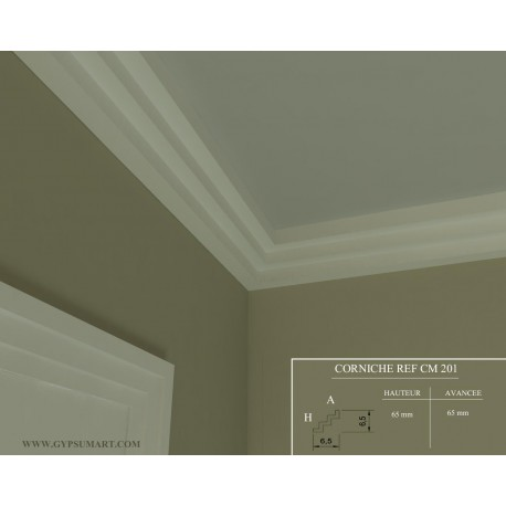 corniche moderne ref cm201dim. Black Bedroom Furniture Sets. Home Design Ideas
