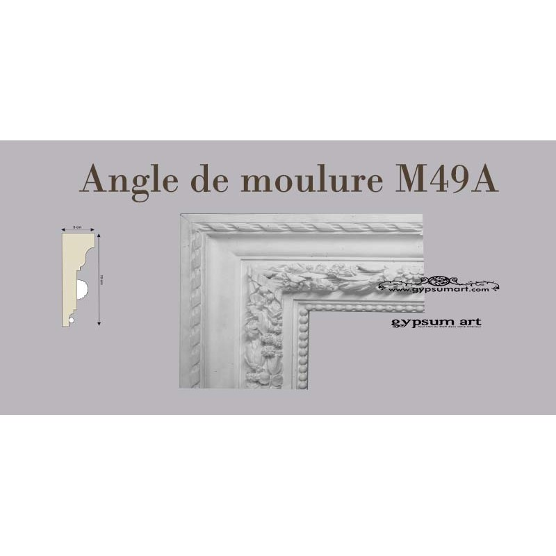 angle de moulure ref m49 a gypsum art. Black Bedroom Furniture Sets. Home Design Ideas