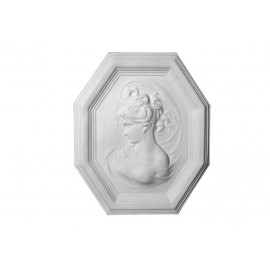Bas relief médaillon Desdemone