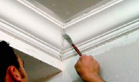 Comment poser une corniche au plafond gypsum art for Moulure plafond salle de bain