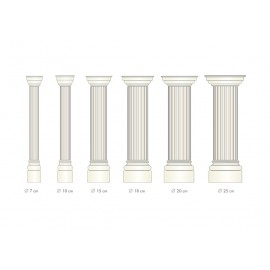 Demi colonne fût cannelé  - Ref:COL918