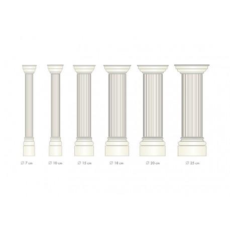 Demi colonne fût cannelé  - Ref:COL922