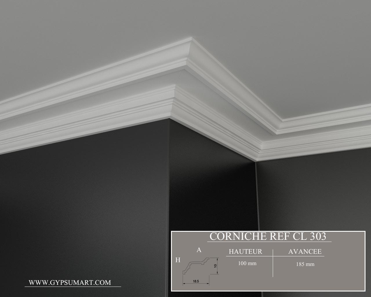 corniche eclairage indirect plafond. Black Bedroom Furniture Sets. Home Design Ideas