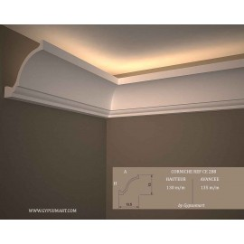 corniches plafond en pl tre staff eclairage indirect moderne doucine gypsum art. Black Bedroom Furniture Sets. Home Design Ideas