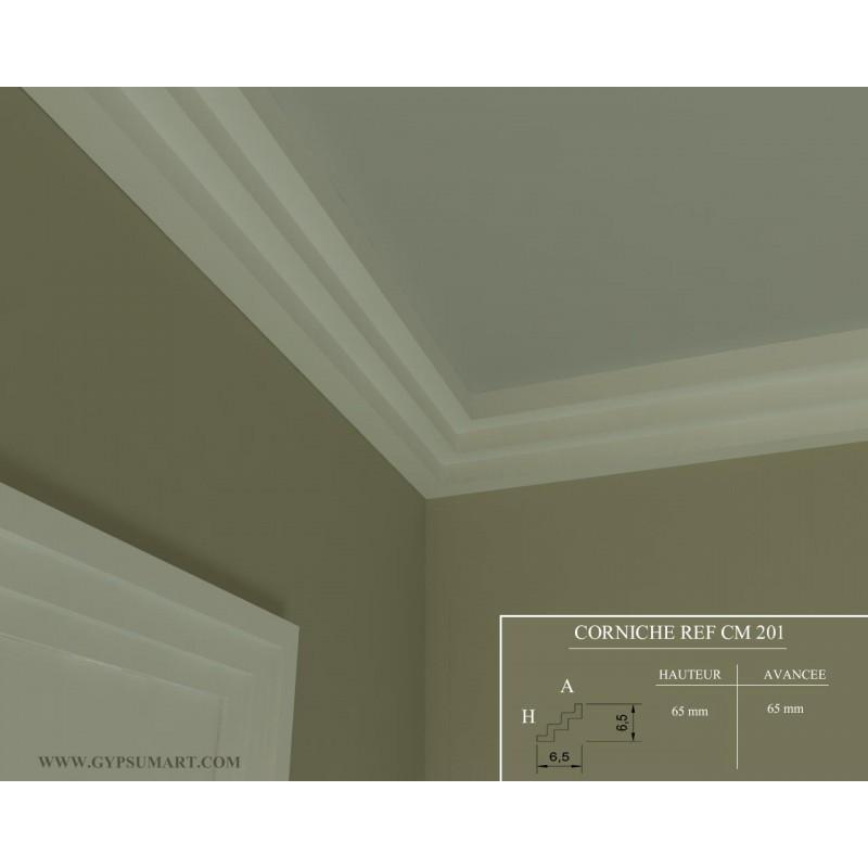 Corniche moderne ref cm201dim for Platre plafond salle de bain