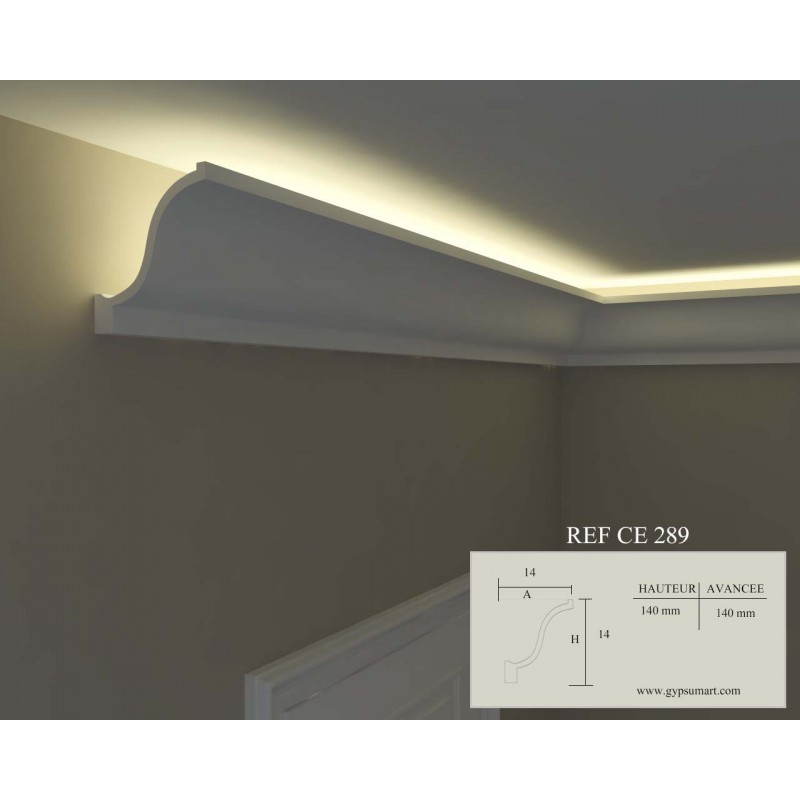 Corniche clairage ref ce289 for Eclairage led interieur plafond