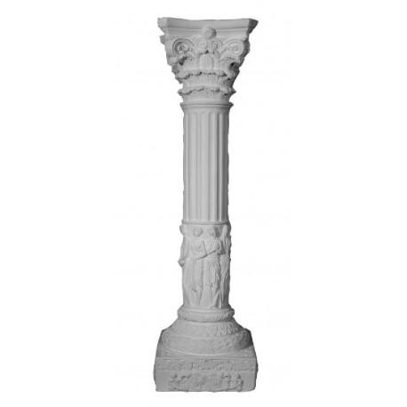 colonne de style en staff hauteur 62 cm diam 10