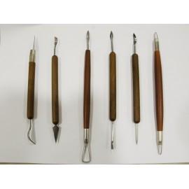 Lot de 6 outils à sculpter