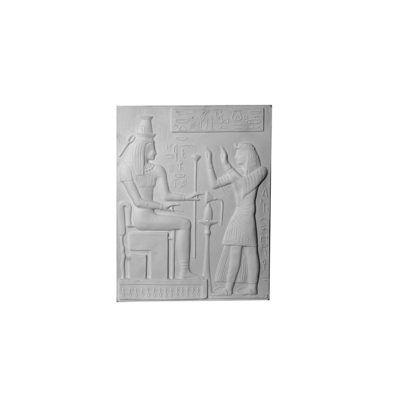 bas relief gyptien 48 x 37 cm ref b536 gypsum art. Black Bedroom Furniture Sets. Home Design Ideas