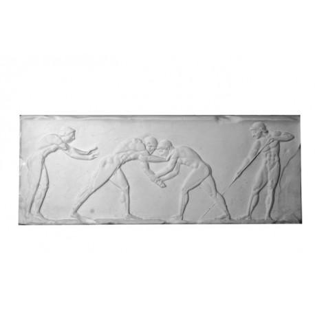 Bas relief danseur grec