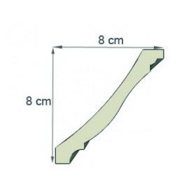 Corniche doucine  Ref cd101 dim 8x8