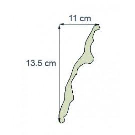 Corniche denticule Ref cde221 dim 13.5 x11