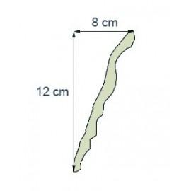 Corniche denticule Ref cde223 dim 12 x8