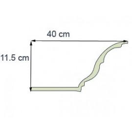 Corniche éclairage Ref CE281 dim40x11.5