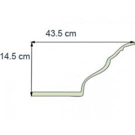 Corniche éclairage Ref CE282 dim43.5x14.5