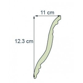 Corniche moderne Ref cm190 dim 12.3 x 11