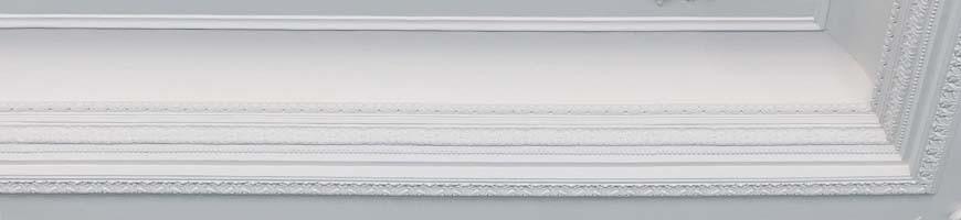 Corniches plafond en plâtre (staff) -  Eclairage indirect, Moderne, Doucine